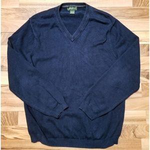 Eddie Bauer V Neck Sweater. SUPER Heavy & Soft!
